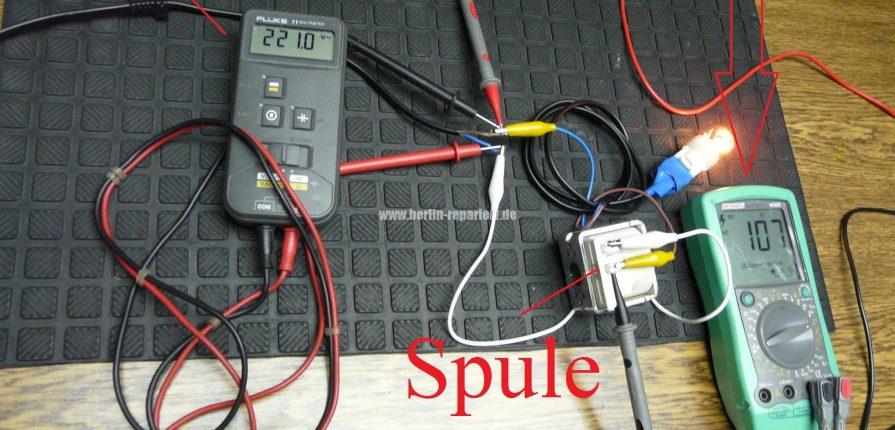 Spule blindwiderstand einfach verstehen und nachweisen for Spule mit geschirrspuler