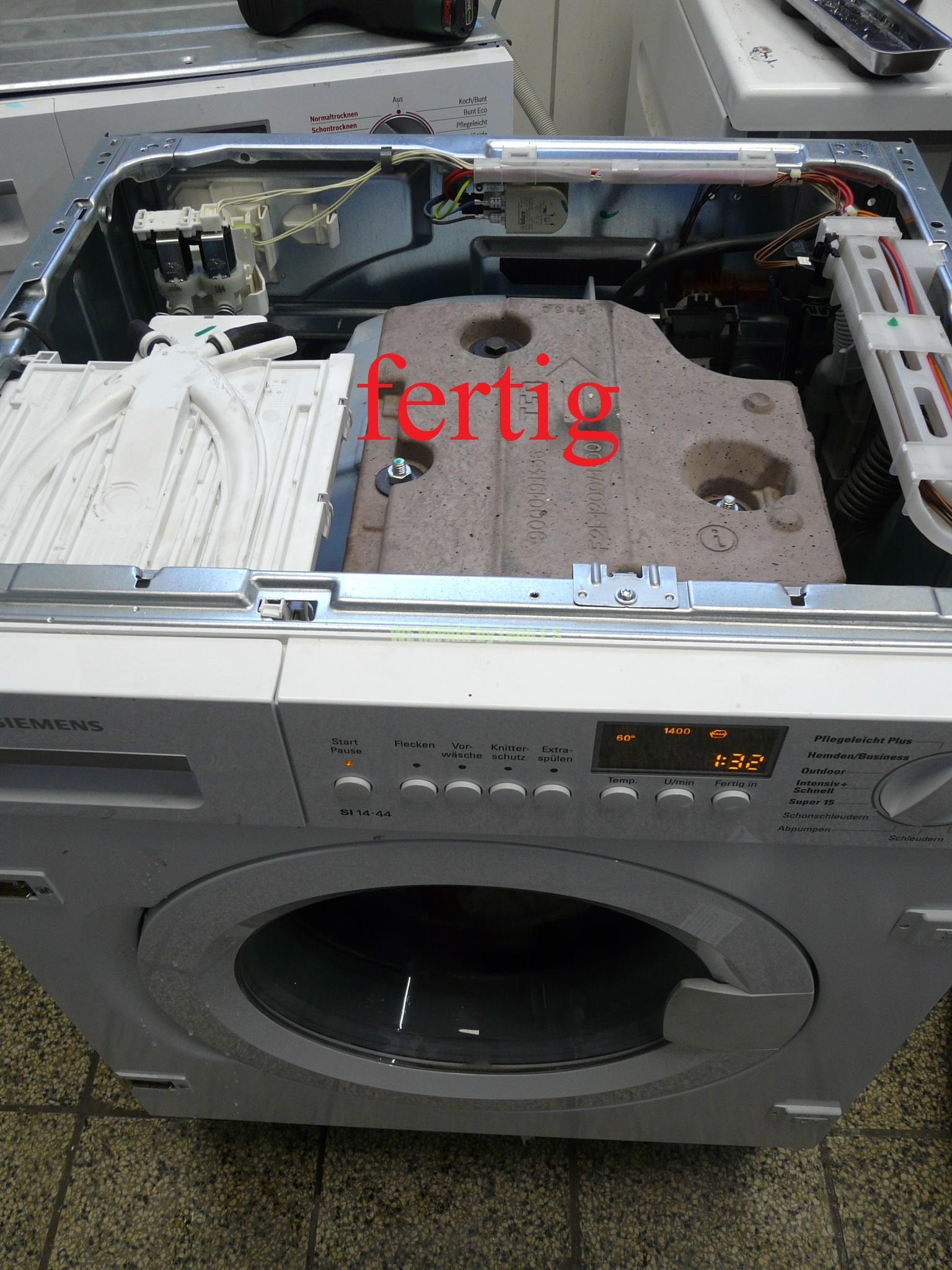 siemens einbau waschmaschine wi14s440 trommel poltert. Black Bedroom Furniture Sets. Home Design Ideas