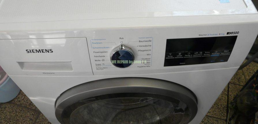 Turbo WD15G442 Siemens iQ500 Waschen und Trocknen 8/5Kg heizt nicht Tür QF08